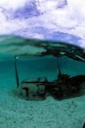 WWII relic, Rock Islands, Palau, Micronesia