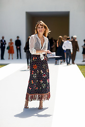 Street style, Ana Girardot arriving at Dior Fall-Winter 2018-2019 Haute Couture show held at Musee Rodin, in Paris, France, on July 2nd, 2018. Photo by Marie-Paola Bertrand-Hillion/ABACAPRESS.COM