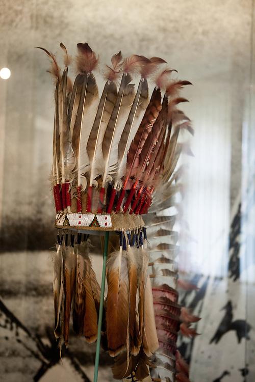Indianischer Kopfschmuck im Naprstek Museum in Prag - gehört zur festen Ausstellung.