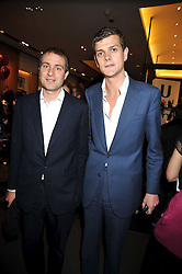 Left to right, BEN GOLDSMITH and the HON.ALI SPENCER-CHURCHILL at a party to celebrate the launch of Romance by Chris Craymer - a book celebrating love, held at Mulberry, 41/42 New Bond Street, London W1 on 20th May 2009.