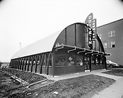 """Ackroyd 00485-4 """"Titan Metal Products Co., Exteriors & interiors of Hermie's Drive-In. January 28, 1948"""" Hermies Drive-In, 1828 NW 27th, near Thurman. Quonset hut style building"""