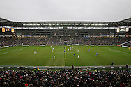 a General view of  the match at the Stadium MK . The Emirates FA cup, 4th round match, MK Dons v Chelsea at the Stadium MK in Milton Keynes on Sunday 31st January 2016.<br /> pic by John Patrick Fletcher, Andrew Orchard sports photography.