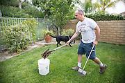 Dog poop pick up guy in Santa Clarita, LA. USA