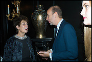 PEGGY SIEGAL; ERIC FELLNER, Party to celebrate Vanity Fair's very British Hollywood issue. Hosted by Vanity Fair and Working Title. Beaufort Bar, Savoy Hotel. London. 6 Feb 2015