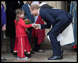 March 12, 2018 - London, London, United Kingdom - Image licensed to i-Images Picture Agency. 12/03/2018. London, United Kingdom.  Prince Harry and Meghan Markle leaving the Commonwealth Day Service at Westminster Abbey in London. (Credit Image: © Stephen Lock/i-Images via ZUMA Press)