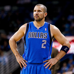 November 17, 2010; New Orleans, LA, USA; Dallas Mavericks point guard Jason Kidd (2) against the New Orleans Hornets during the second half at the New Orleans Arena. The Hornets defeated the Mavericks 99-97. Mandatory Credit: Derick E. Hingle