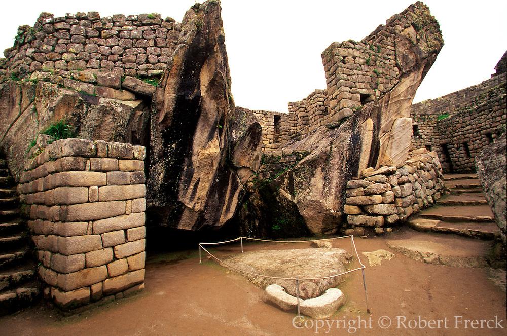 PERU, PREHISPANIC, INCA Machu Picchu; the Prison Group