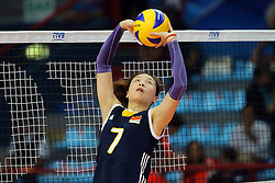 China Wei Qiuyue sets a ball