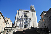 Girona, Cathedral, Historic centre, Catalonia, Spain