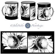 Coffee Mug Showcase 19 - Graphic Rendering of a Sunflower - Shop here:  https://2-julie-weber.pixels.com/featured/in-the-details-julie-weber.html