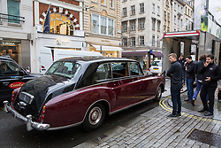 London, UK. 29th November, 2018. Auctioneers Bonhams move a C.1979 Rolls-Royce Phantom VI Limousine in preparation for an auction of historic and high-performance racing and road cars. Highlights include a Le Mans class-winning Jaguar XJ220C driven by David Coulthard (£2,200,000-2,800,000), a Lister Jaguar Knobbly (£2,200,000-2,800,000) and a 1958 BMW 507 owned by its designer, as well as Ferraris, Aston Martins, Bentleys, Porsches and Jaguars. Bonhams, founded in 1793, is one of the world's largest and most renowned auctioneers of fine art and antiques, motor cars and jewellery.