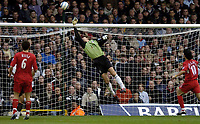 Fotball<br /> Premier League England<br /> 2004/2005<br /> 16.10.2004<br /> Foto: BPI/Digitalsport<br /> NORWAY ONLY<br /> <br /> Fulham v Liverpool<br /> <br /> Milan Baros' shot loops in after a wicked deflection  made it 2-1