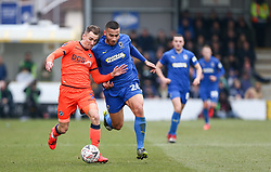 Jed Wallace of Millwall and Rod McDonald of AFC Wimbledon tussle for the ball - Mandatory by-line: Arron Gent/JMP - 16/02/2019 - FOOTBALL - Cherry Red Records Stadium - Kingston upon Thames, England - AFC Wimbledon v Millwall - Emirates FA Cup fifth round proper