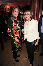 Left to right, LADY POOLE and NINA CAMPBELL at Made in Afghanistan - a fashion show in aid of Afganaid and The Soldiers' Charity held at the Porchester Hall, London on 7th October 2010.