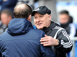 Cardiff City Manager Russell Slade greets Preston North End Manager Simon Grayson - Mandatory by-line: Paul Knight/JMP - Mobile: 07966 386802 - 27/02/2016 -  FOOTBALL - Cardiff City Stadium - Cardiff, Wales -  Cardiff City v Preston North End - Sky Bet Championship