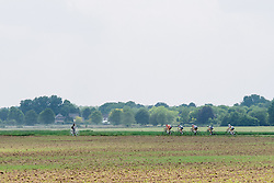 The breakaway five speed through the countryside with 15 kilometres to do at Boels Hills Classic 2016. A 131km road race from Sittard to Berg en Terblijt, Netherlands on 27th May 2016.