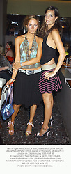 Left to right, MISS JESSICA SIMON and MISS ZARA SIMON daughters of Peter Simon owner of Monsoon, at a party in London on 23rd January 2003.	PGP 45