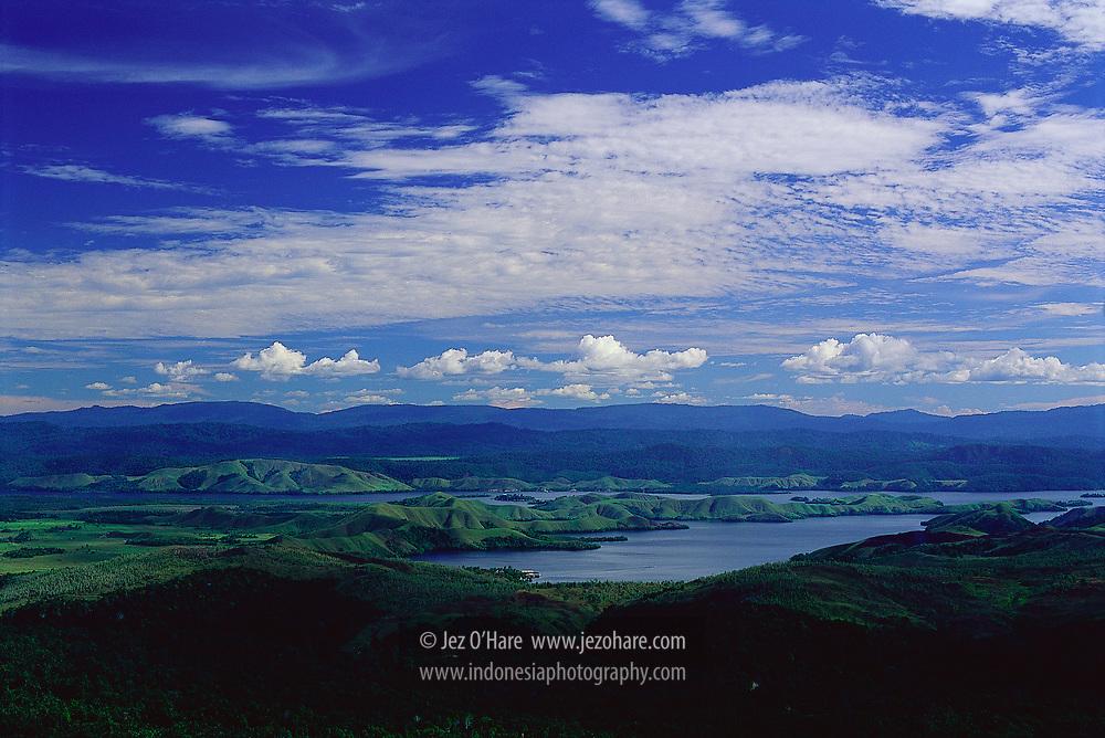 Lake Sentani, Papua, Indonesia.