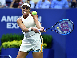 September 6, 2018 - Flushing Meadow, NY, U.S. - FLUSHING MEADOW, NY - SEPTEMBER 06:  Madison Keys (USA) in action during her semi-final match in the Women's Singles Championships at the US Open on September 06, 2018, at the Billie Jean King Tennis Center in Flushing Meadow, NY. (Photo by Cynthia Lum/Icon Sportswire) (Credit Image: © Cynthia Lum/Icon SMI via ZUMA Press)
