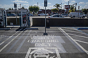 Electric Vehicle charging station, Los Angeles, California, USA