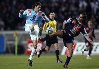 Fotball<br /> Fransk cup, Paris Saint Germain v Bayonne<br /> 10. februar 2004<br /> Paris<br /> Foto: Digitalsport<br /> Norway Only<br /> <br /> FRANCK HISTILLOLES (BAY) / HUGO LEAL (PSG)  *** Local Caption *** 40001041