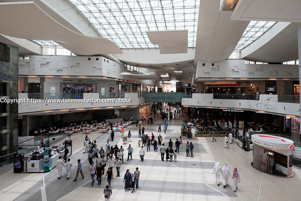 Interior of The Avenues shopping mall in Kuwait City, Kuwait.