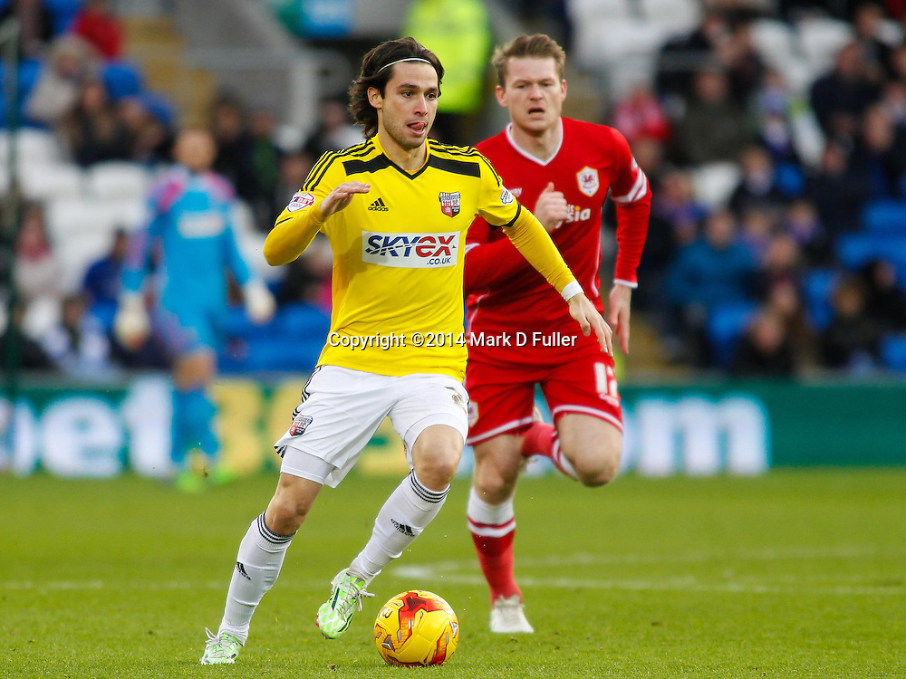 Brentford FC's Jota during the Sky Bet Championship match between Cardiff City and Brentford at the Cardiff City Stadium 20/12/2014<br /> Picture by Mark D Fuller