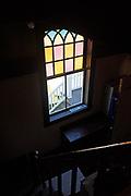 Window 5 on plan.<br /> Manset Union Church, Manset, Maine.