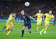 Paris Saint-Germain Zlatan Ibrahimović (vice captain) during the Champions League match between Paris Saint-Germain and Chelsea at Parc des Princes, Paris, France on 17 February 2015. Photo by Phil Duncan.
