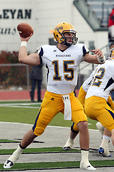 12 November 2011:  David Lee during an NCAA division 3 football game between the Augustana Vikings and the Illinois Wesleyan Titans in Tucci Stadium on Wilder Field, Bloomington IL