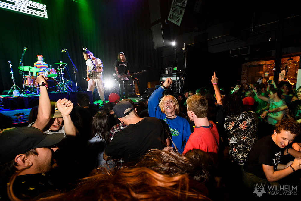 Attendees mosh during DIIV's performance at Red Bull Sound Select Presents Denver at the Summit Music Hall in Denver, CO, USA, on 13 May, 2017.