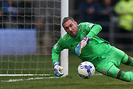 goalkeeper Allan McGregor of Cardiff city in action.EFL Skybet championship match, Cardiff city v Birmingham City at the Cardiff City Stadium in Cardiff, South Wales on Saturday 11th March 2017.<br /> pic by Andrew Orchard, Andrew Orchard sports photography.