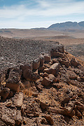 """' The carpentry ' a geological phenomena in Makhtesh Ramon a geological feature of Israel's Negev desert. Located at the peak of Mount Negev, the world's largest """"erosion cirque"""" (steephead valley or box canyons). The formation is 40 km long, 2–10 km wide and 500 meters deep, Today the area forms Israel's largest national park, the Ramon Nature Reserve."""
