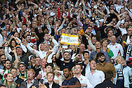 Fans during the opening ceremony during the Rugby World Cup Pool A match between England and Fiji at Twickenham, Richmond, United Kingdom on 18 September 2015. Photo by Matthew Redman.