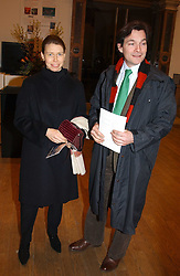 LADY SARAH CHATTO daughter of the late Princess Margaret and her husband MR DANIEL CHATTO at a private view of the new exhibition 'Matisse, his Art and his Textiles' at the Royal Academy of Art, Burlington House, Piccadilly, London on 1st March 2005.<br /><br />NON EXCLUSIVE - WORLD RIGHTS
