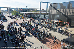 The Harley-Davidson Museum during the Milwaukee Rally. Milwaukee, WI, USA. Saturday, September 3, 2016. Photography ©2016 Michael Lichter.