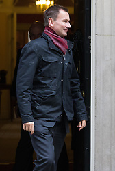 Downing Street, London, January 26th 2016. Health Secretary Jeremy Hunt leaves 10 Downing Street following the weekly Cabinet meeting. ///FOR LICENCING CONTACT: paul@pauldaveycreative.co.uk TEL:+44 (0) 7966 016 296 or +44 (0) 20 8969 6875. ©2015 Paul R Davey. All rights reserved.