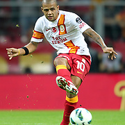 Galatasaray's Felipe Melo during their Turkish Super League soccer match Galatasaray between Eskisehirspor at the TT Arena at Seyrantepe in Istanbul Turkey on Saturday, 06 October 2012. Photo by TURKPIX
