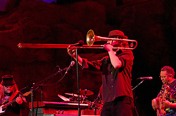 Matt Hubard on Trumpet. 7 Walkers in Concert in The Wolfs Den at Mohegan Sun Casino on December 9, 2010