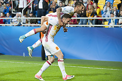 June 20, 2017 - Gdynia, Poland - Saul Niguez and Dani Ceballos of Spain celebrate after score during the UEFA European Under-21 Championship 2017  Group B match between Portugal and Spain at Gdynia Stadium in Gdynia, Poland on June 20, 2017  (Credit Image: © Andrew Surma/NurPhoto via ZUMA Press)