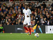 Tammy Abraham of England during the U21 UEFA EURO first qualifying round match between England and Scotland at the Riverside Stadium, Middlesbrough, England on 6 October 2017. Photo by Paul Thompson.