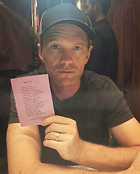 """Neil Patrick Harris releases a photo on Instagram with the following caption: """"Happy Sunday! \ud83d\ude42 Have an amazing week! \ud83d\ude18\n#neilpatrickharris #davidburtka #nph #db #tagsforlikes #actors #lovethem #handsome #chef #repost #couple #husbands @nph @dbelicious \ud83d\udc9a\ud83d\udc99\n[Repost from @travelingpoetryemporium]"""". Photo Credit: Instagram *** No USA Distribution *** For Editorial Use Only *** Not to be Published in Books or Photo Books ***  Please note: Fees charged by the agency are for the agency's services only, and do not, nor are they intended to, convey to the user any ownership of Copyright or License in the material. The agency does not claim any ownership including but not limited to Copyright or License in the attached material. By publishing this material you expressly agree to indemnify and to hold the agency and its directors, shareholders and employees harmless from any loss, claims, damages, demands, expenses (including legal fees), or any causes of action or allegation against the agency arising out of or connected in any way with publication of the material."""
