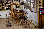 Inside the showroom of Jose Cotacachi, Peguchi, Ecuador