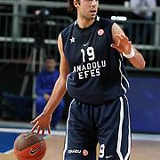 Anadolu Efes's Sasha VUJACIC during their Turkish Airlines Euroleague Basketball Group C Game 6 match Anadolu Efes between Partizan at Sinan Erdem Arena in Istanbul, Turkey, Wednesday, November 23, 2011. Photo by TURKPIX
