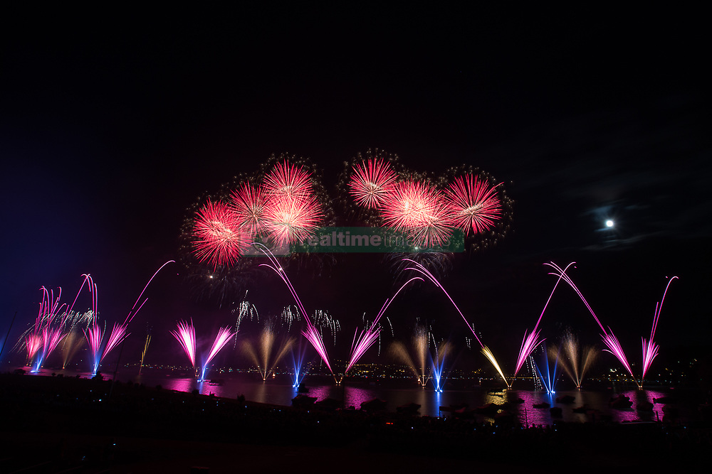 August 5, 2017 - Spectacle pyrotechnique - Feux d'artifice (Credit Image: © Panoramic via ZUMA Press)
