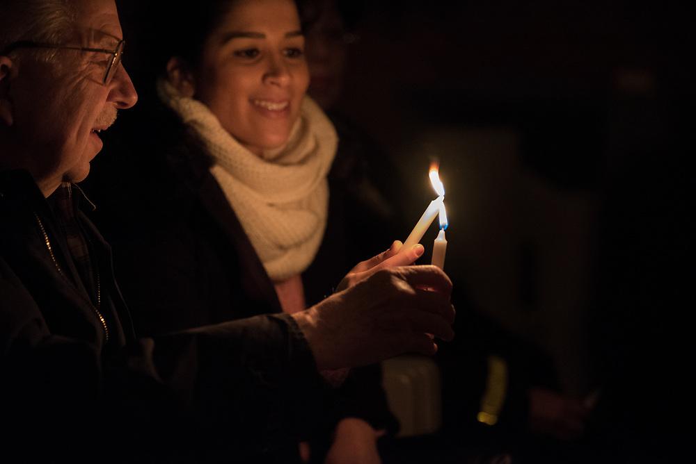 15 April 2017, Stockholm, Sweden: Easter midnight service in Kista Church, Church of Sweden.
