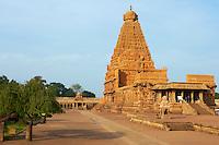 Inde, etat du Tamil Nadu, Thanjavur (Tanjore), temple de Bridhadishwara le joyau de l architecture chola, patrimoine mondial de l Unesco // India, Tamil Nadu, Thanjavur (Tanjore), Bridhadishwara temple, Unesco world heritage