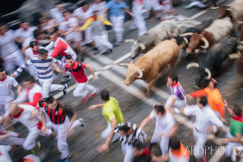 Pamplona Spain Running of the Bulls San Fermin festival