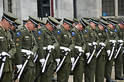 08/07/2018  repro  free:  The Honour Guard of the 1st Inf B nThe National Day of Commemoration Ceremony at NUI Galway in honour of all those Irishmen and Irish Women who served in past wars or on Service with the UN.Photo:Andrew Downes, XPOSURE