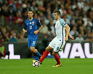 Eric Dier of England in action. FIFA World cup qualifying match, European group F, England v Slovakia at Wembley Stadium in London on Monday 4th September 2017.<br /> pic by Andrew Orchard, Andrew Orchard sports photography.
